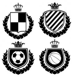 heraldry coat of arms vector image vector image