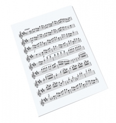 music sheet vector image
