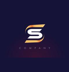 S letter logo design modern letter template vector