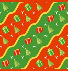 seamless christmas gift pattern vector image