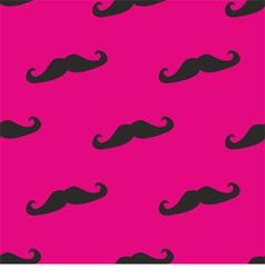 Seamless mustache pop pink background vector image