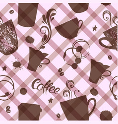 seamless pattern with cute cups vector image vector image