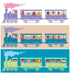 Steam Train Driver vector image vector image