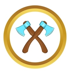 Two crossed axes icon cartoon style vector image vector image
