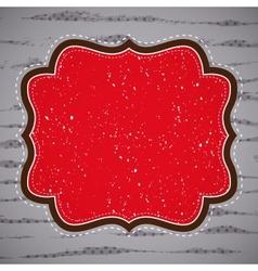 Beige vintage greetings vector image vector image