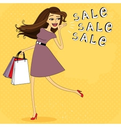 Fasion sale girl vector