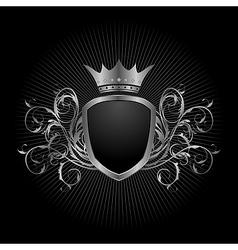 luxury vintage aluminium frame template - vector image