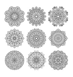 meditation pattern of indian vector image