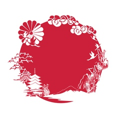 Miniature symbolizing japan vector