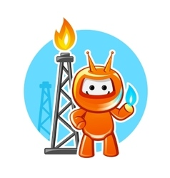 Natural Gas Industry Mascot vector image vector image