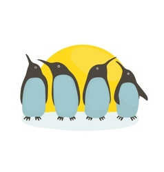 Penguins and Sun vector image vector image