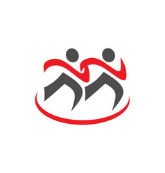 running sport icon and fitness sign vector image