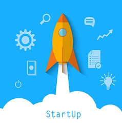 start up1 vector image vector image