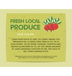 Summer Farm Fresh poster template or brochure vector image vector image