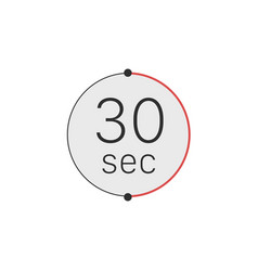 30 seconds timer stopwatch or countdown icon time vector
