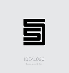 55 - logo or design element or icon with numbers vector image
