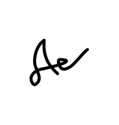 a letter signature logo vector image