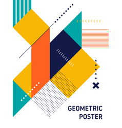 Abstract geometric isometric shape layout design vector