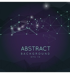 Abstract polygonal backgroun Low poly design vector image