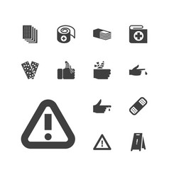Accident icons vector