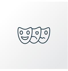 acting icon line symbol premium quality isolated vector image
