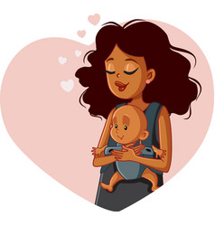 african mother holding newborn in bawearing vector image
