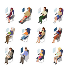 airplane passenger people businessman woman vector image