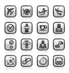 Airport and Plane Icons vector