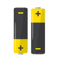 alkaline battery on white background flat design vector image