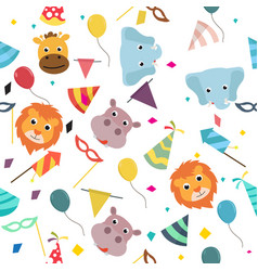 animals carnival colorful party pattern vector image