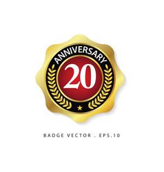 Anniversary 20 template design vector
