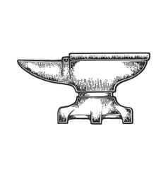 Anvil sketch engraving vector