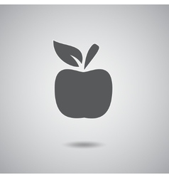 Apple sign gray vector image