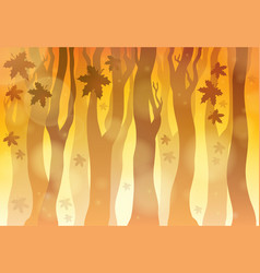 autumn theme background 6 vector image