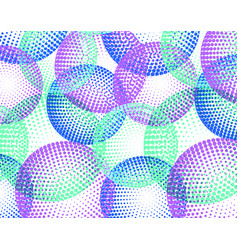 background with colorful halftone circle vector image