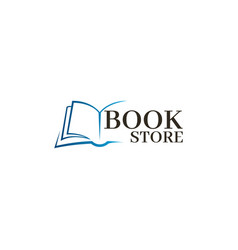 bookstore logo template design logo open book vector image