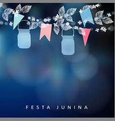 Brazilian june party festa junina string vector