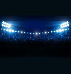 bright stadium arena lights design illumination vector image