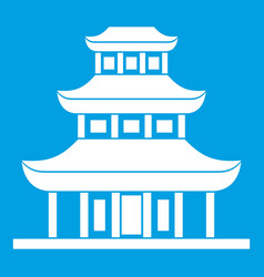 Buddhist temple icon white vector