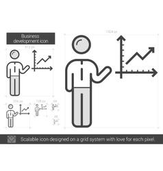 Business development line icon vector