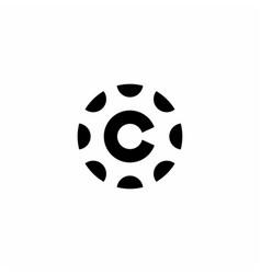 C letter logo icon mark vector