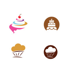 cake sign icon vector image