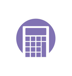Calculator school ico vector