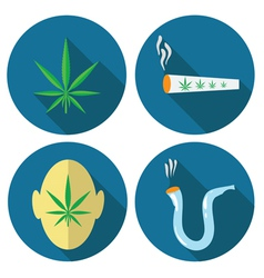 cannabis icons vector image