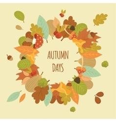 cartoon nature autumn frame vector image