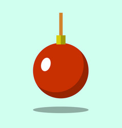 christmas tree red ball icon isolated on iigt vector image