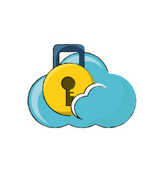 cloud storage design concept vector image
