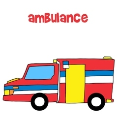 Collection of ambulance art vector