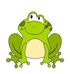 cute cartoon frog isolated on white vector image