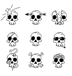 Damage skulls vector